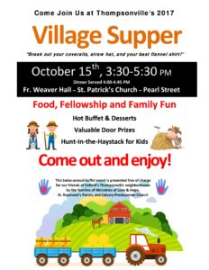 Thompsonville's 2017 Autumn Supper @ Fr. Weaver Hall, St. Patrick's Church