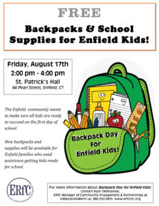 Backpack Day for Enfield Kids @ St. Patrick's Church