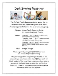 Dads Evening Playgroup @ Stowe Family Resource Center