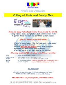Fatherhood Workshop Series @ Stowe Early Learning Center