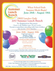 Free Lunch with Summer Lunch Bunch (ERfC) @ St. Patrick's Hall