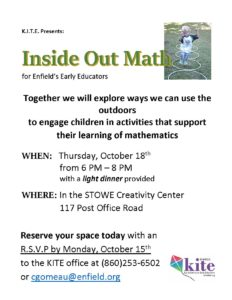 Fun with Outdoor Math Professional Development @ Stowe Early Learning Center