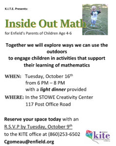 Fun with Outdoor Math Workshop for Parents @ Stowe Early Learning Center