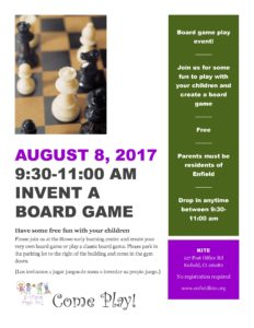 Invent a Board Game @ Stowe Early Learning Center