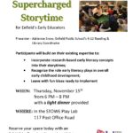 Professional Development: Supercharged Storytime for Enfield's Early Educators @ Stowe Play Lab