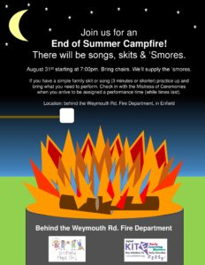 Campfire, S'mores & Family Skits @ Weymouth Fire Department