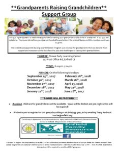 **Grandparents Raising Grandchildren** Support Group @ Stowe Early Learning Center