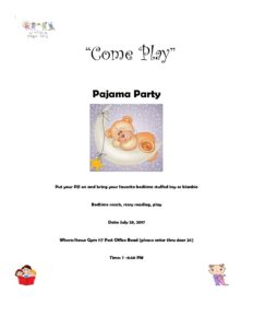 Pajama Party @ Stowe Early Learning Center