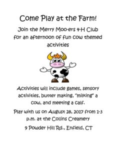 Come Play at the Dairy Farm @ Collins Creamery