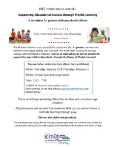 Playful Learning Workshops @ Stowe Early Learning Center