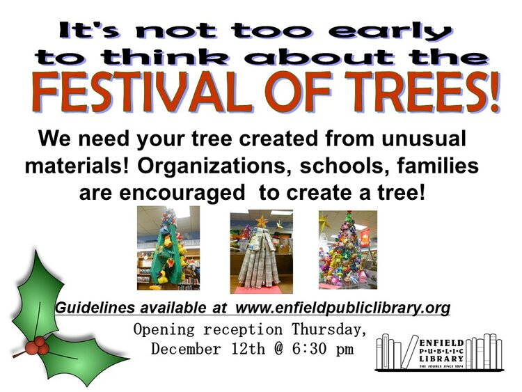 Enfield Public Library-Create a Tree for the Festival of Trees @ Enfield Public Library