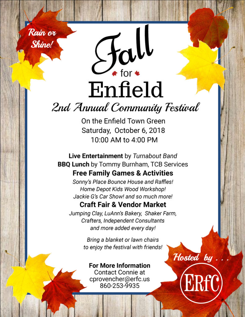 Annual Fall for Enfield Community Festival @ Enfield Town Green
