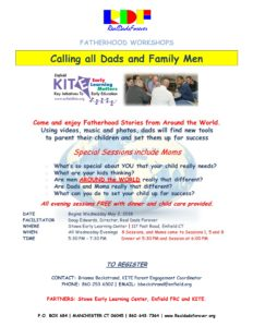 Fatherhood Workshop Series @ Stowe Early Learning Center
