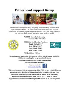 Fatherhood Support Group @ Stowe Early Learning Center