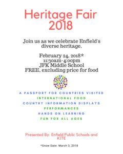 Heritage Fair @ JFK Middle School