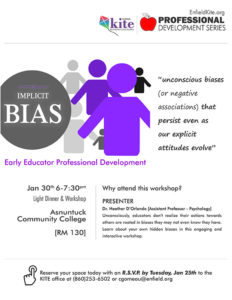Professional Development : Implicit Bias [POSTPONED] @ Asnuntuck Community College