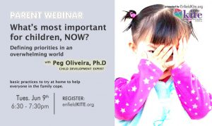 Parent Webinar: What's most important for children, now? Defining priorities in an overwhelming world @ ONLINE