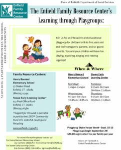 Playgroup Open House Week @ Stowe Early Learning & Henry Barnard Elementary