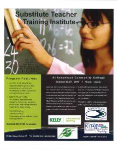 Substitute Teacher Training @ Asnuntuck Community College