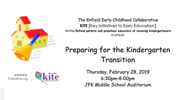 Transition to Kindergarten (for parents  & educators of incoming kindergartners) @ JFK Middle School