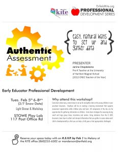 Professional Development : Authentic Assessment @ Stowe Play Lab