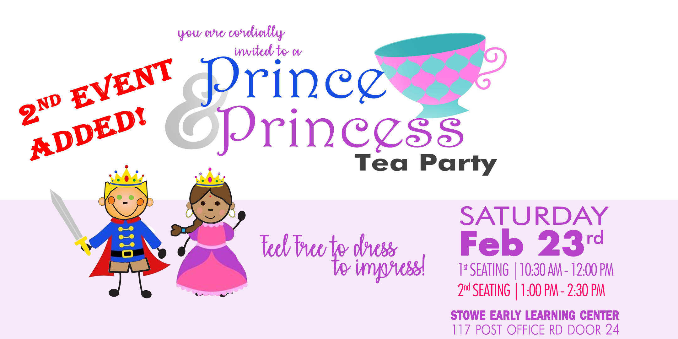 Prince & Princess Tea Party [Second Seating] @ Play Lab at Stowe